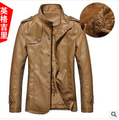 Hot 2016 Winter Men's Leather Jacket Collar PU Leather Men Leather Men Leather Jacket Free Shipping Wholesale-season Clearance