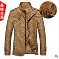 Hot 2017 Winter Men's Leather Jacket Collar PU Leather Men Leather Men Leather Jacket Free Shipping Wholesale-season Clearance