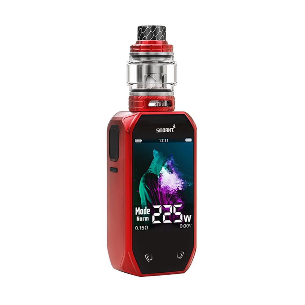 E Cigarette kit SMOANT Naboo 225W kit Touch Button Design Max 225W 2.4 inch HD screen with 4ml/2ml large capacity tank atomizer