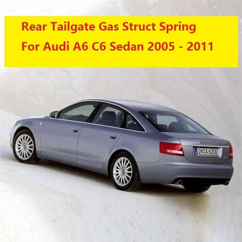 2ピース用アウディa6 c6セダン2005 2006 2007 2008 2009 2010 2011車のスタイリングリアトランクテールゲートリフトをサポートガスstruts春