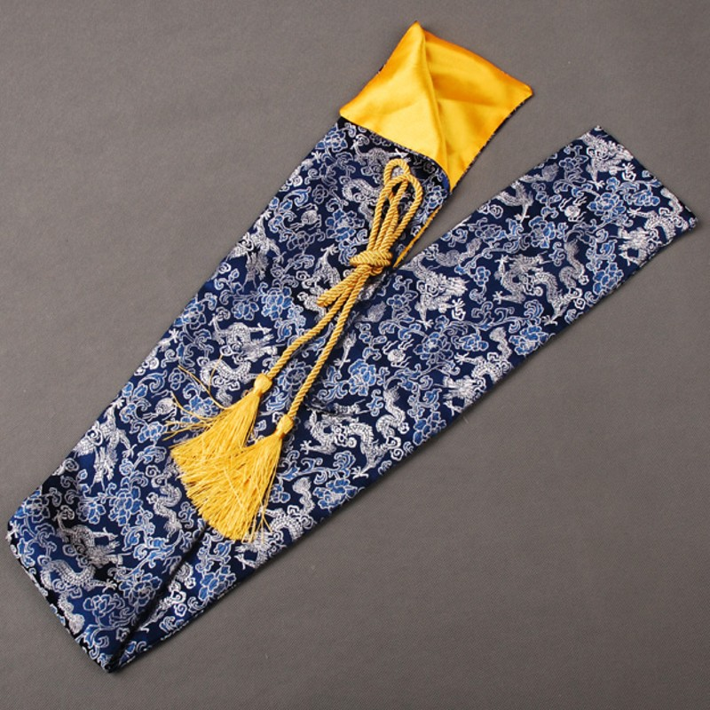Soft and Delicate Silk Sword Bag Fitting for Japanese Samurai Sword Katana Blue Dragon Design Nice Collection or Gift QD1Soft and Delicate Silk Sword Bag Fitting for Japanese Samurai Sword Katana Blue Dragon Design Nice Collection or Gift QD1
