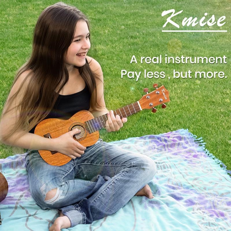 Kmise ukulélé Ukelele Kit Soprano Concert ténor acajou Uke 21 23 26 30 4 cordes guitare avec Gig Bag accordeur sangle pour débutants - 3
