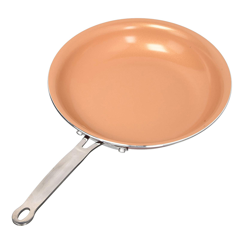 NEW Non Stick Skillet Copper Pan Frying Pan With Ceramic Coating Saucepan Oven Suitable Induction Wok Titanium Frying Pan