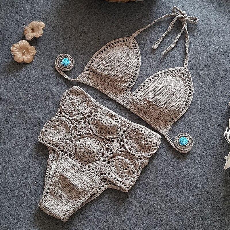 Жаңа трикотаж Bikini Set 2019 Әйелдер жоғары - Спорттық киім мен керек-жарақтар - фото 5