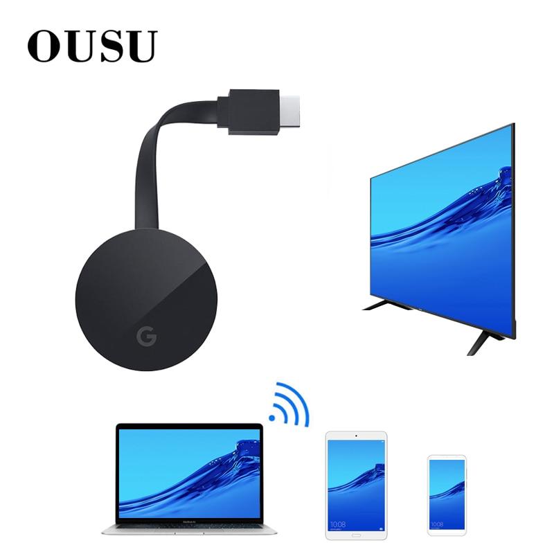 OUSU 1080P HDMI Miracast Sem Fio Bluetooth adaptador Receptor De Áudio Bluetooth USB Transmissor Para 4K Headphone TV Projetor