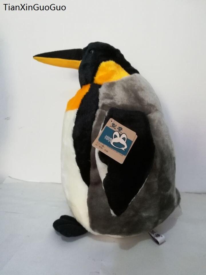Nouveauté, grand 48 cm dessin animé pingouin en peluche jouet mignon pingouin doux poupée jeter oreiller cadeau de noël h1033