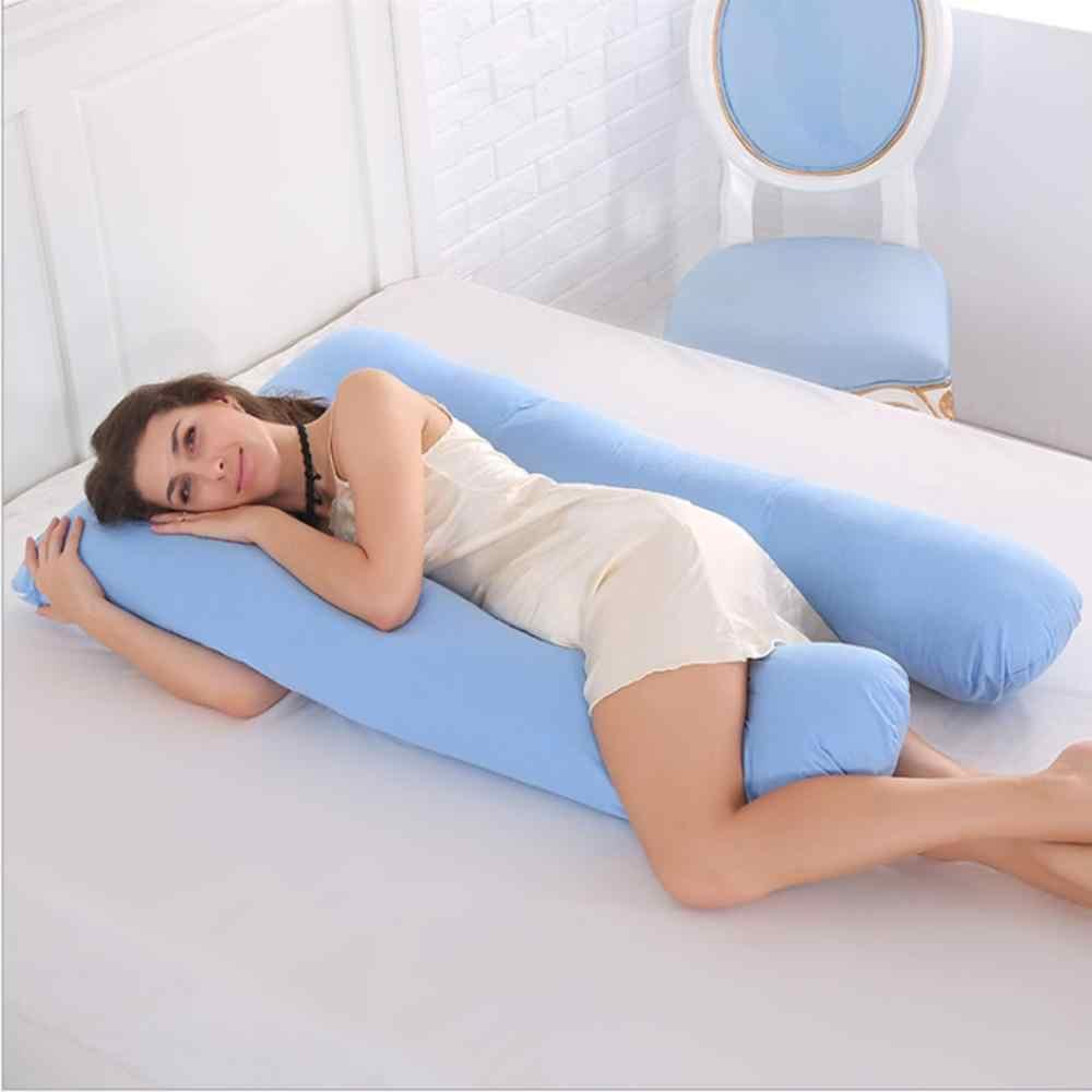 0ce6f121301 Спальный Поддержка Подушка для беременных Для женщин тела 100% хлопок  наволочка U ...