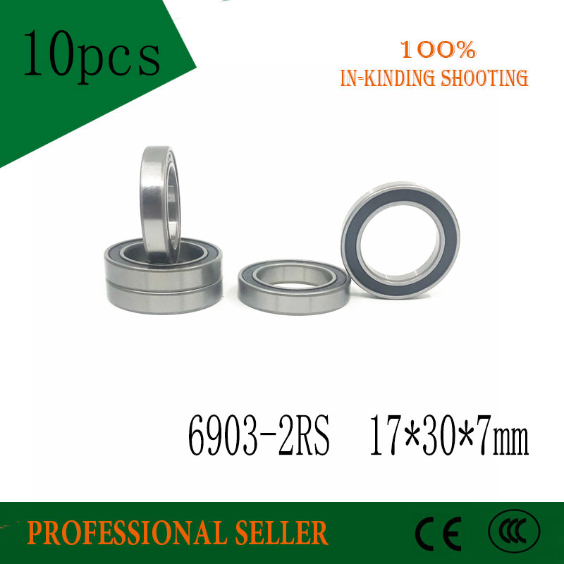 10pcs/lot 6903-2RS Bearing Thin Section 6903 2RS Ball Bearing 6903RS 17*30*7MM Deep Groove Ball Bearings