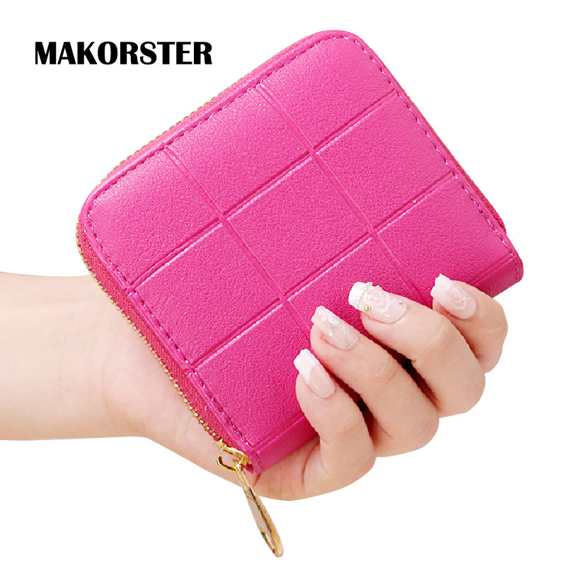 MAKORSTER Short Style Fashion font b Wallet b font for ladies PU Leather money font b