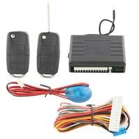 Keyless Entry Kit Car 4 Doors Auto Remote Lock Unlock DC12V With Customized Flip Key Blade