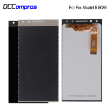 For Alcatel 5 5086 5086A 5086D LCD Display Touch Screen Digitizer Assembly Replacement parts For Alcatel 5086 Screen LCD Display 100% new for alcatel one touch idol alpha ot6032 6032 lcd screen display with touch screen digitizer assembly free shipping