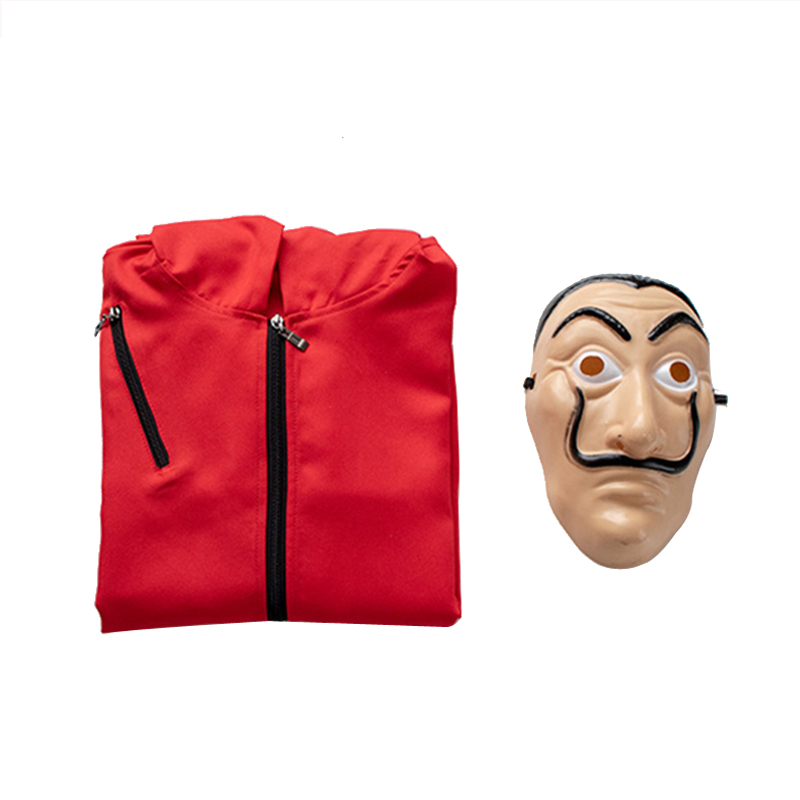 Evening Halloween Party Salvador Dali Cosplay Movie Mask Money Heist The House of Paper La Casa De Papel Cosplay Costume Face Ma