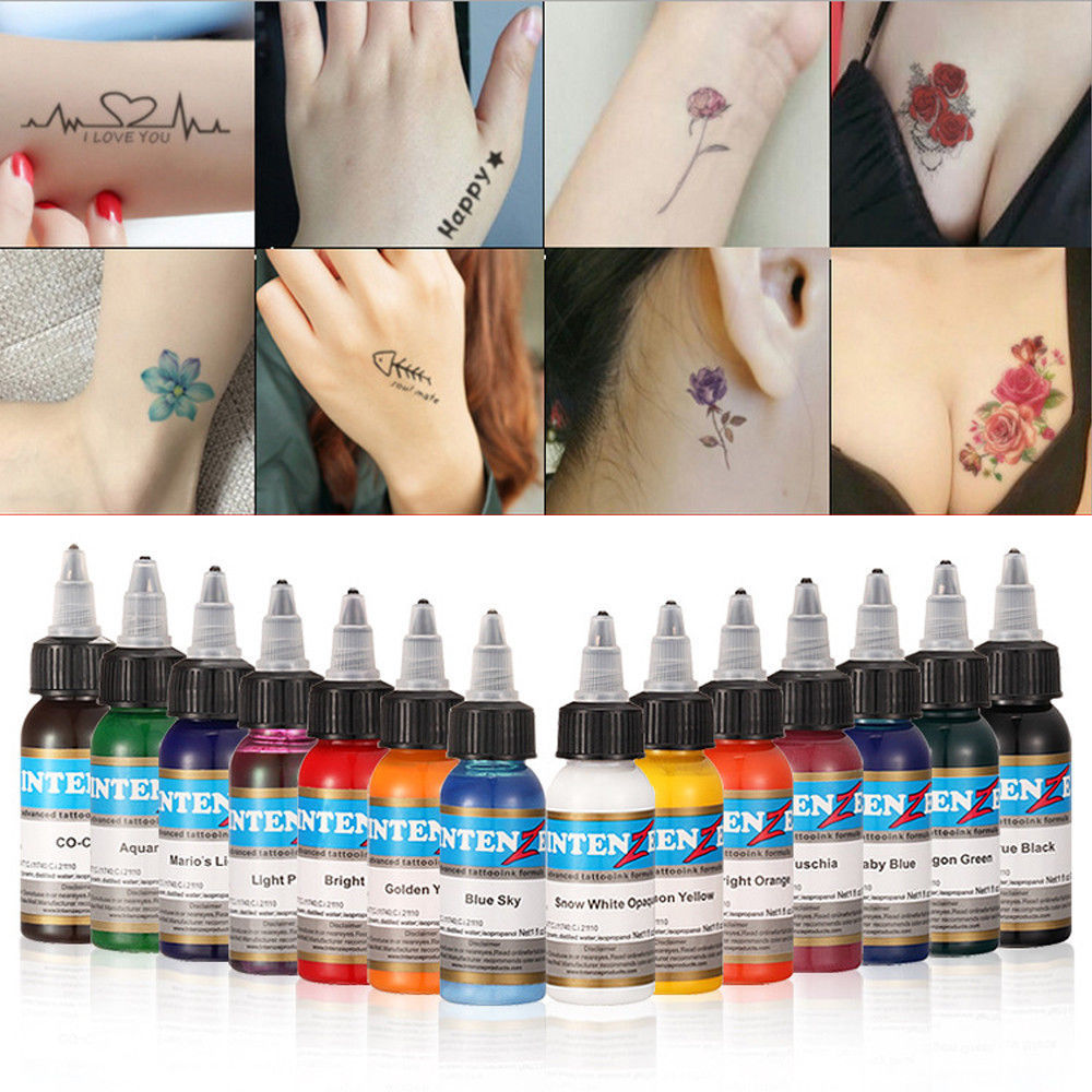 21 color tattoo ink pure plant small tattoo color set 30 ml eyebrows permanent tattoo black beauty tools
