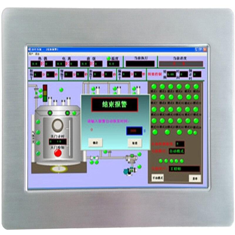 Mini pc industriel de panneau d'écran tactile de 10.1 pouces sans ventilateur rocailleux tout en un mini ordinateur de pc