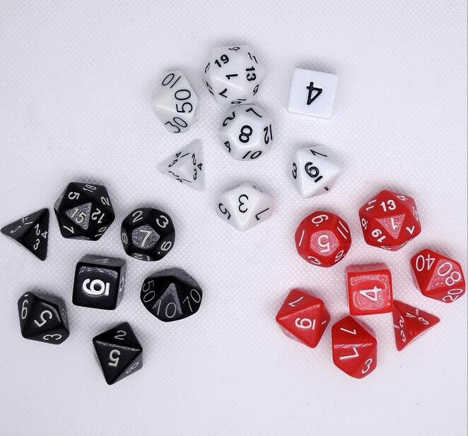 7 Pcs Set Dungeons Dragons Board Game Dice Set DND Life font b Calculator b font