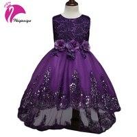 Children Dress Girls New 2017 Summer Brand Fashion Bow Floral Kids Wedding Party Dresses Sequins Princess