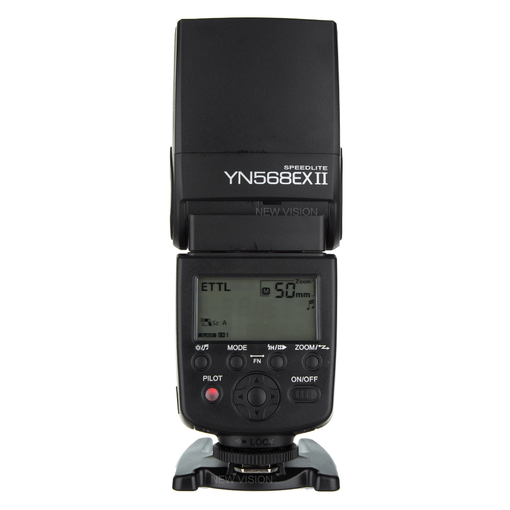 YONGNUO Wireless Flash Speedlite TTL HSS 1/8000s For Canon 5D II III 7D 7DII 60D 70D DSLR Camera YN-568EX II yongnuo 3x yn 600ex rt ii 2 4g wireless hss 1 8000s master flash speedlite yn e3 rt flash trigger for canon eos camera 5d 6d