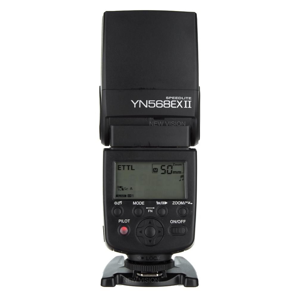 YONGNUO Wireless Flash Speedlite TTL HSS 1/8000s For Canon 5D II III 7D 7DII 60D 70D DSLR Camera YN-568EX II yongnuo yn568ex ii wireless 4 channel ttl hss flash speedlite 1 8000s for canon e ttl e ttl ii camera yn568ex for nikon d7100