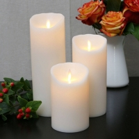 LED Ksperway LED Flameless Real Wax LED Pillar Candles Dancing Flame Timer and Remote