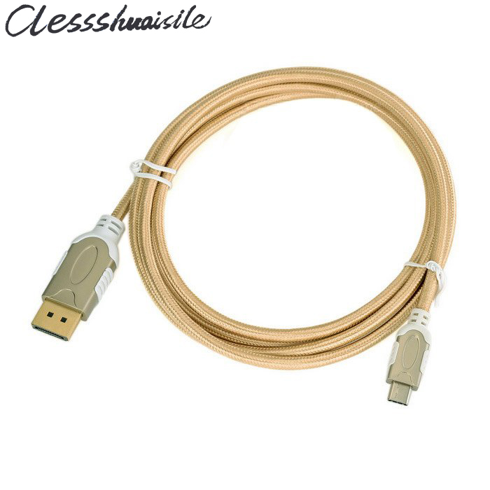(100pcs/lot) USB 3.1 Type C USB-C to DisplayPort DP 4K UHD HDTV Cable 180cm 1.8m for Google Chromebook & Apple Macbook 12