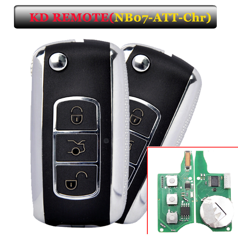 Free shipping E(1 piece)Keydiy KD900 NB07 3 button remote key with NB-ATT-Chrysler model for Chrysler,jeep and Dodge