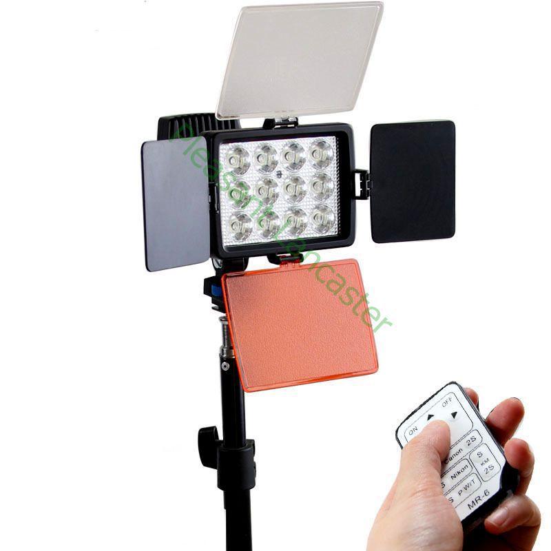 bilder für Hohe qualität NEUE LED-1040 12LED Video Licht DV Camcorder Heißes Schuh-lampen + li-ion NP-F750 akku + ladegerät, fotozubehör