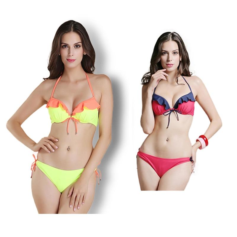 New Sexy Candy Color Bikini Set Swimwear