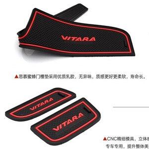 Image 4 - Per 2015 2016 2017 Suzuki vitara Gate Slot Pad antiscivolo Cup mat s antiscivolo porta Groove mat Sticker accessori auto