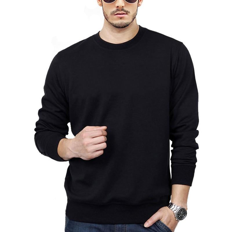 New Super High Quality Sweatshirt Fashion Cotton Men's Hoodie Blank Crew Neck Sweatshirt Men Streetwear Casual Comfort Cotton