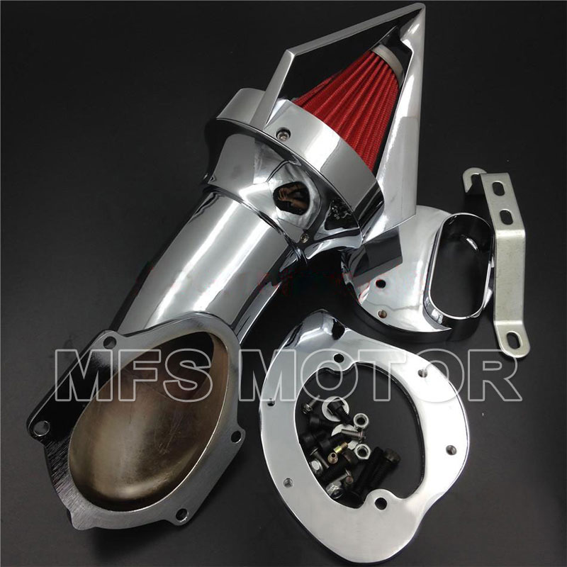 Cone Spike Air Cleaner for Yamaha V Star 1100 Dragstar XVS1100 1999 2012 CHROME Motorcycle Accessories in Air Filters Systems from Automobiles Motorcycles