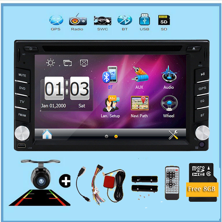 Car Video 2 din car dvd player digital monitor USB SD Audio GPS stereo in dash Bluetooth auto Parking monitor +Camera For car free shipping car refitting dvd frame dvd panel dash kit fascia radio frame audio frame for 2012 kia k3 2din chinese ca1016