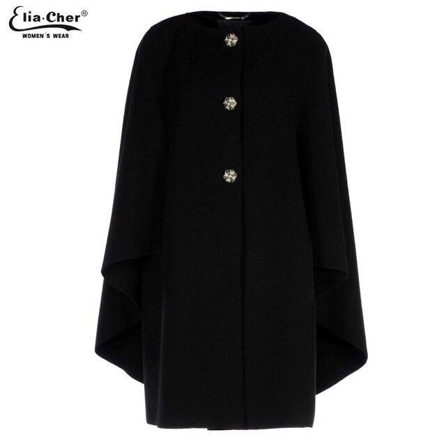 Eliacher Brand Jacket Women Autumn Blends Coat 2017 Women Wool Plus Size Female Clothing Chic Fashion Slim Black Long Wool Coat