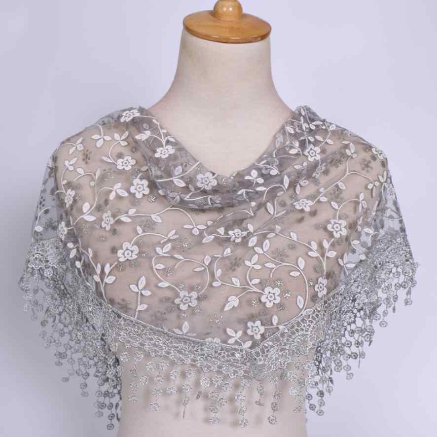 Phụ nữ Scarf Bọc Sheer Floral Khăn Choàng Tua Khăn của Phụ Nữ Chiếc Khăn Foulards Poncho Tuyệt Vời Đàn Hồi Khăn Choàng Khăn Quàng Echarpe