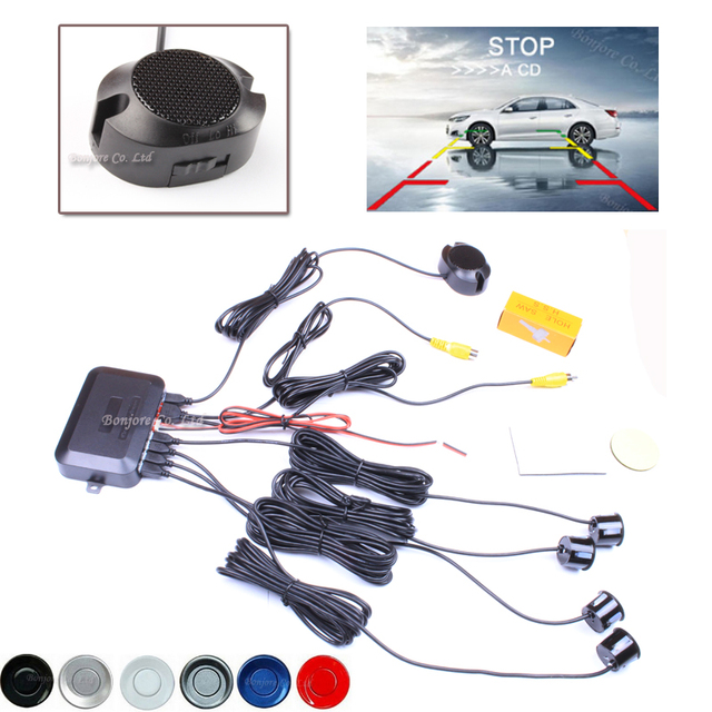 2017 Dual Core CPU Car Video Parking Sensor Reverse Backup Radar Assistance and Step-up Alarm Show Distance Free Shipping