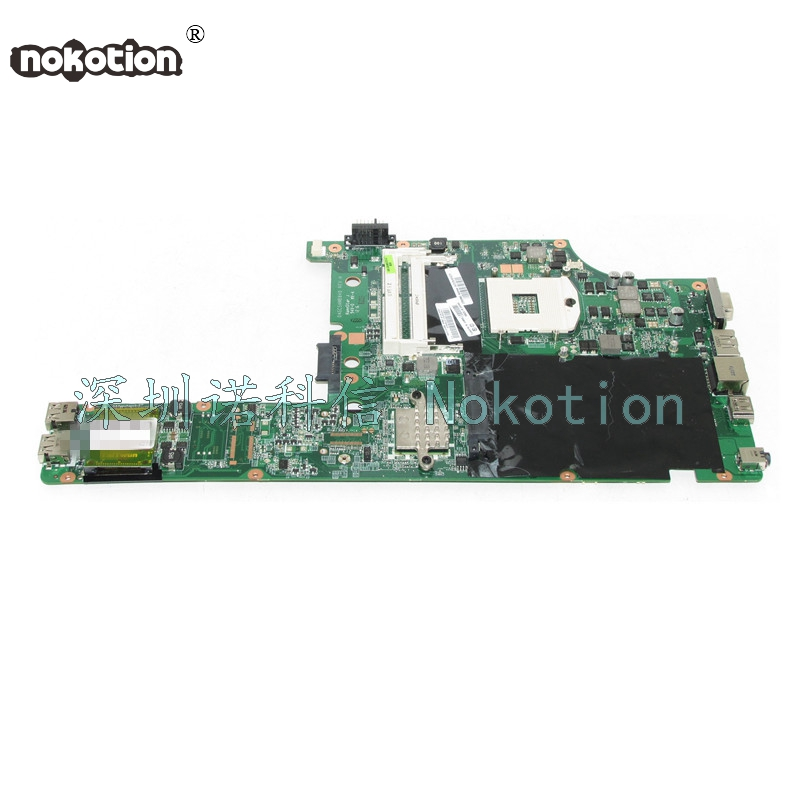 все цены на NOKOTION Fru 04w3600 Laptop Motherboard for Lenovo Thinkpad Edge E40 14 HM55 DDR3 Mainboard works онлайн