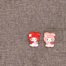 2 pcs/lot Kawaii Cartoon DIY Resin patch My Melody Figurine crafts Phone case Coin Bag accessories kids figure toy(China)