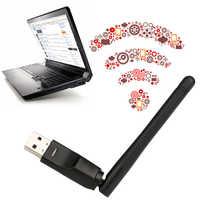 Mini adaptador Wifi inalámbrico 150Mbps 20dBm antena USB2.0 Wifi receptor tarjeta de red 802.11b/n/g adaptador Wifi de alta velocidad