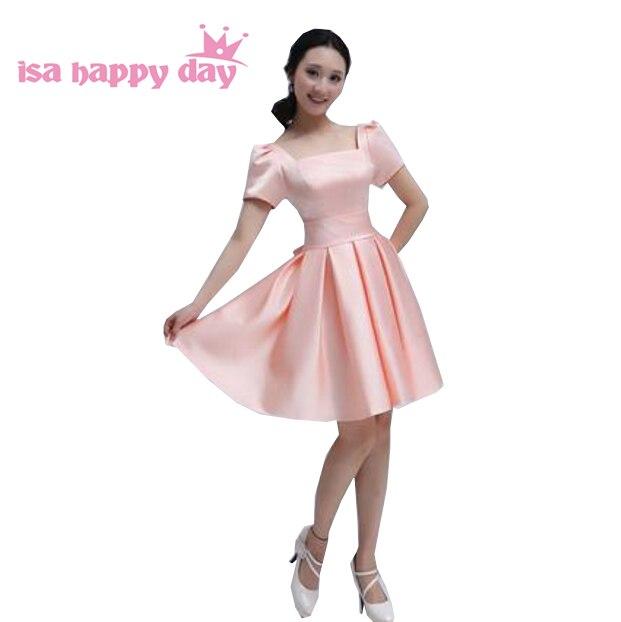 6b333a971e multi color women s formal modest short sweetheart prom dresses sleeve  sleeves new fashion 2019 knee length dress W656