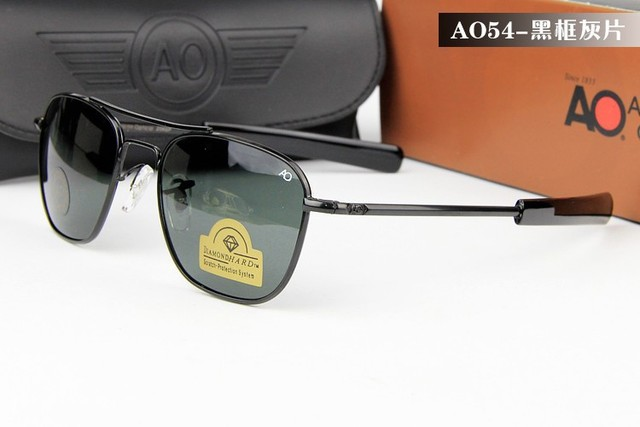 f67b783812 American Optical 20KGP Diamond Hard Scratch Protection Tempered Glass  Unbreakable Sun Glasses Military Special Sunglasses AO54