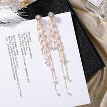 Винтажные Многослойные Длинные очаровательные жемчужные бриллианты