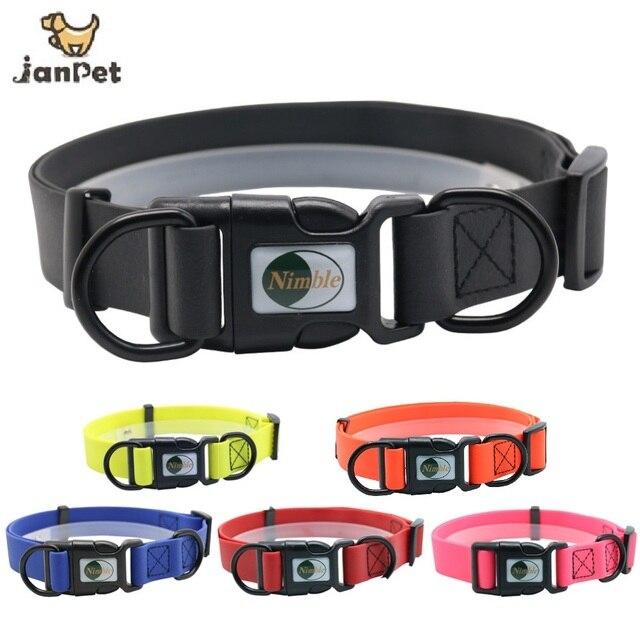 JanPet 新高品質ペット犬の首輪 PVC 防水猫の首輪抗汚い簡単ビッグ小型犬ためにきれいにする子犬ペット製品
