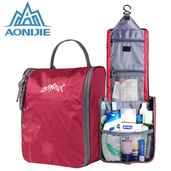 AONIJIE Travel kit Waterproof Wash bag Male Womens Toiletries Bag Waterproof Nylon Wash Gargle Bag