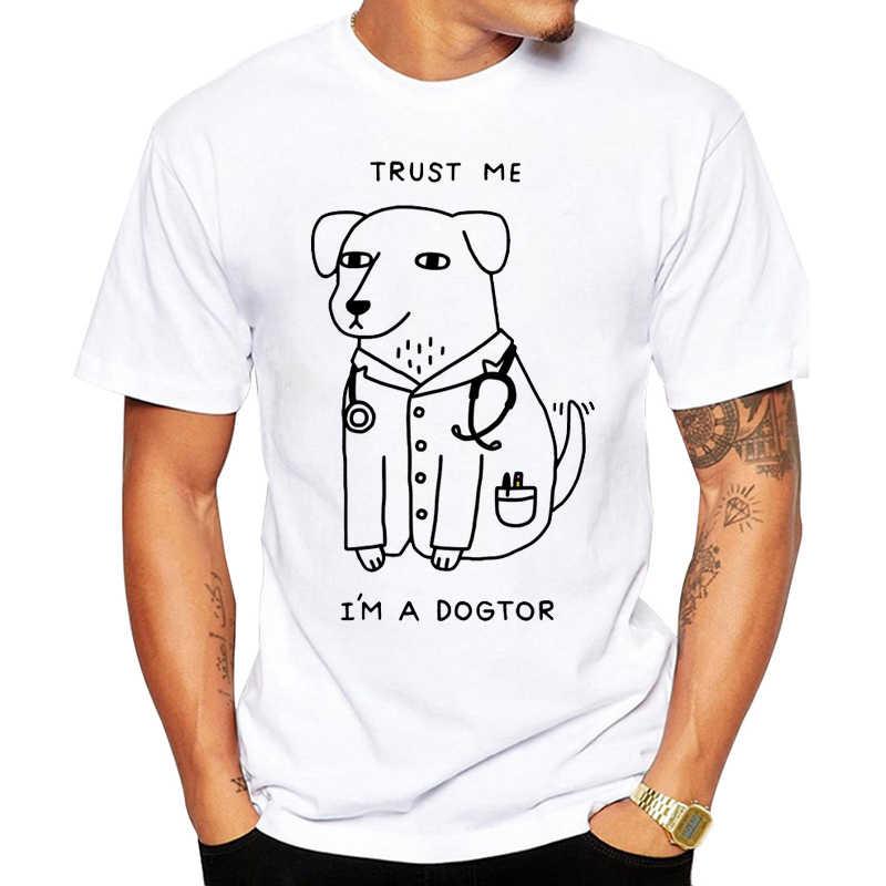 Più nuovo disegno Trust Me sono UN Dogtor T Shirt per Cani di Medico Pop Divertente T-Shirt di Marca Punk Hip Hop Roccia unisex Tee