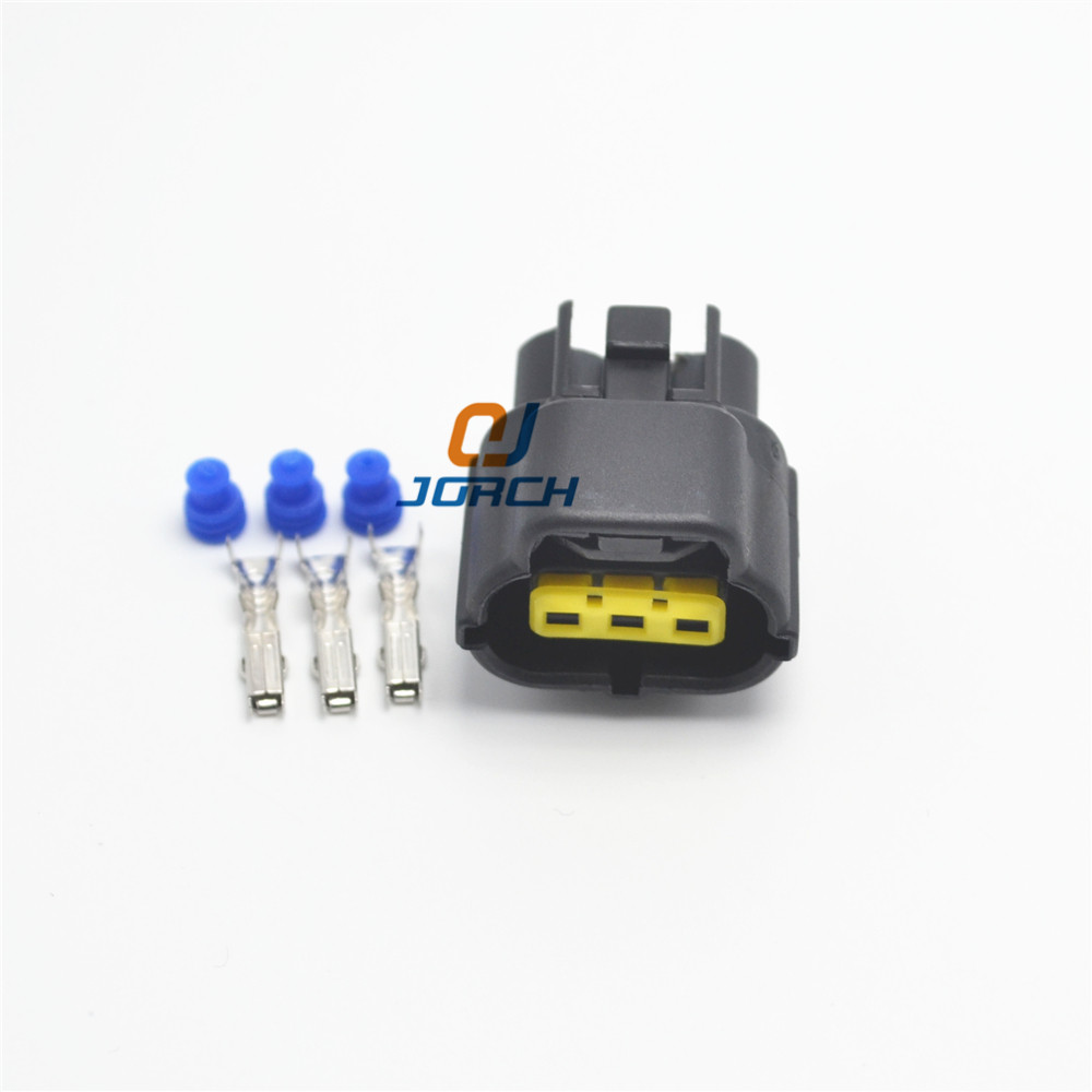 10 Sets 3pin  S60 S80 XC60 XC90 Camshaft Eccentric Shaft Position Sensor Wiring Connector 174357-2 368523-1