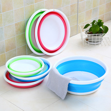 Creative Travel Foldable Camping Wash Basin Plastic Bucket Washbowl Sink Portable Basins Household Cleaning Tool Accessories