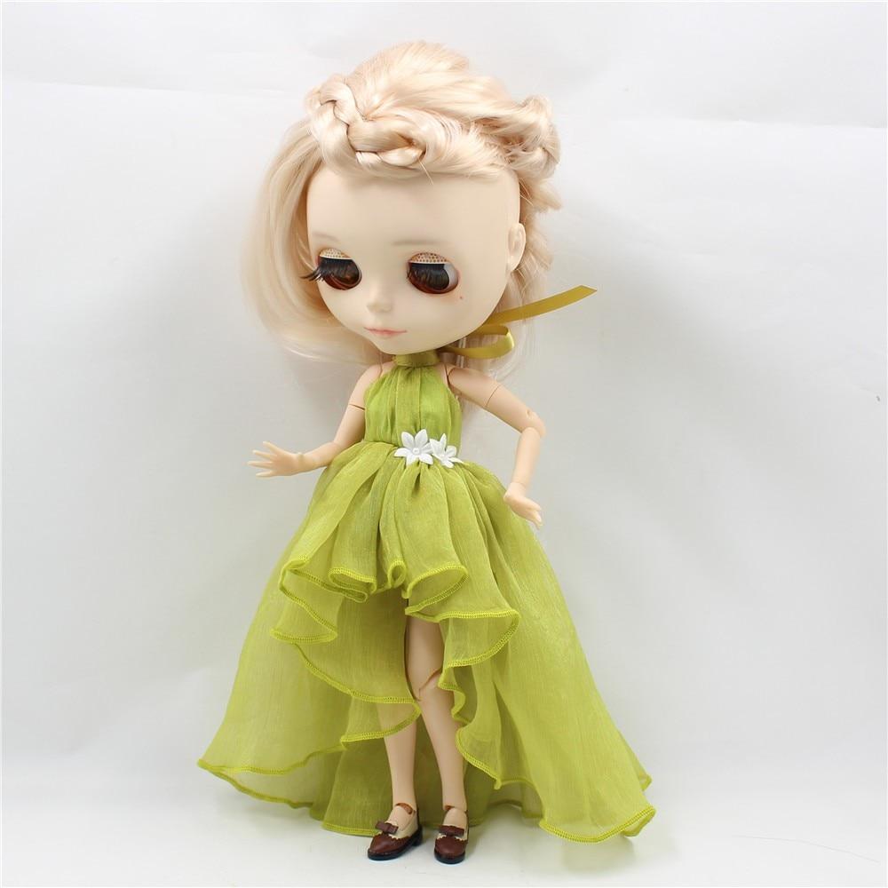 Neo Blythe Doll Chiffon Dress with Flower 5