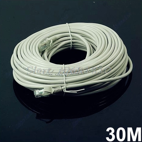 30M 100 FT RJ45 CAT5 CAT5E Ethernet Internet LAN Network Cord Cable Gray Z09 Drop ship 50ft 15m rj45 cat5 cat5e ethernet internet lan network cord cable drop shipping