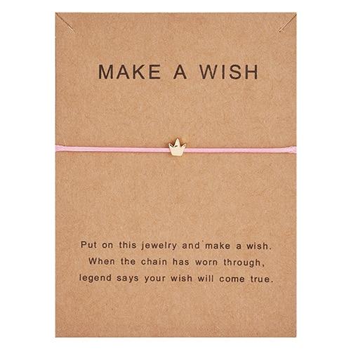 Регулируемый браслет с бумажными карточками в форме бабочки, звезды, короны, Круглый тканый браслет ручной работы, Простые Модные женские ювелирные изделия, подарки - Окраска металла: 8