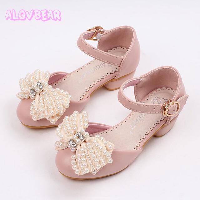 3a6bb8115 Alovbear calçados infantis meninas princesa sapatos sandálias da moda  meninas crianças designer de sapatos único verão