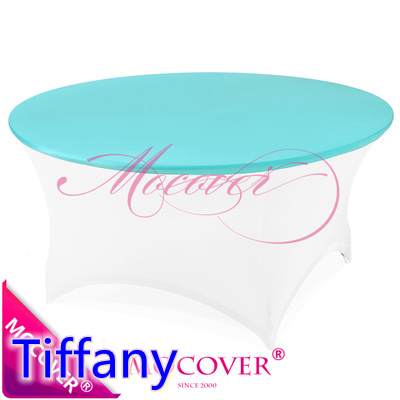 Tiffany spandex round table cover design fit 5ft-6ft round tables,lycra table top cover  ...